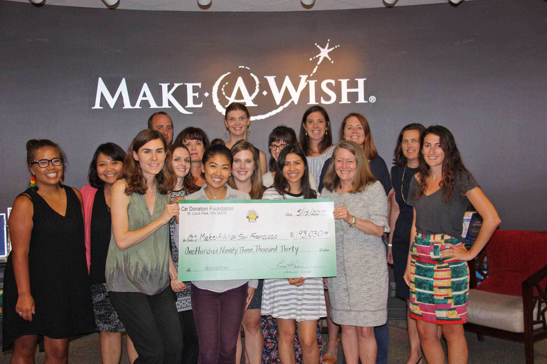 WFW Make-A-Wish Greater Bay Area June 2017 Check