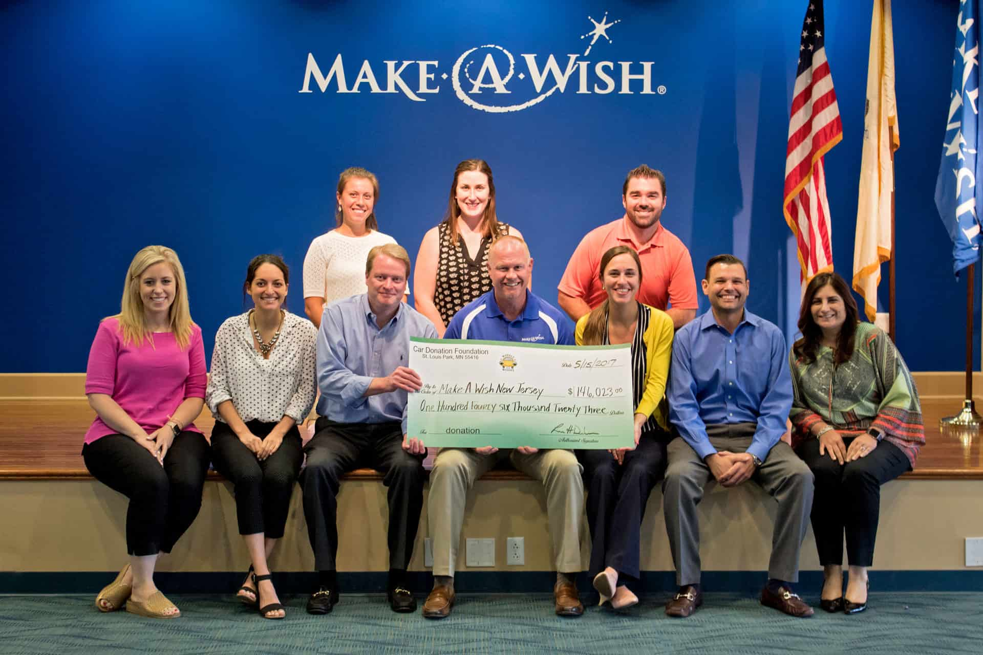 WFW Make-A-Wish New Jersey June 2017 Check