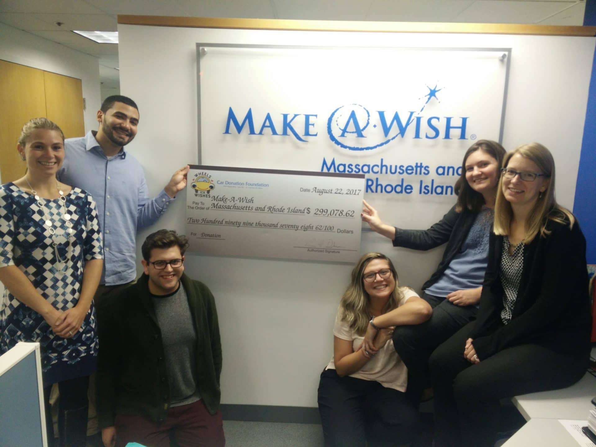 WFW Make-A-Wish Massachusetts and Rhode Island Check