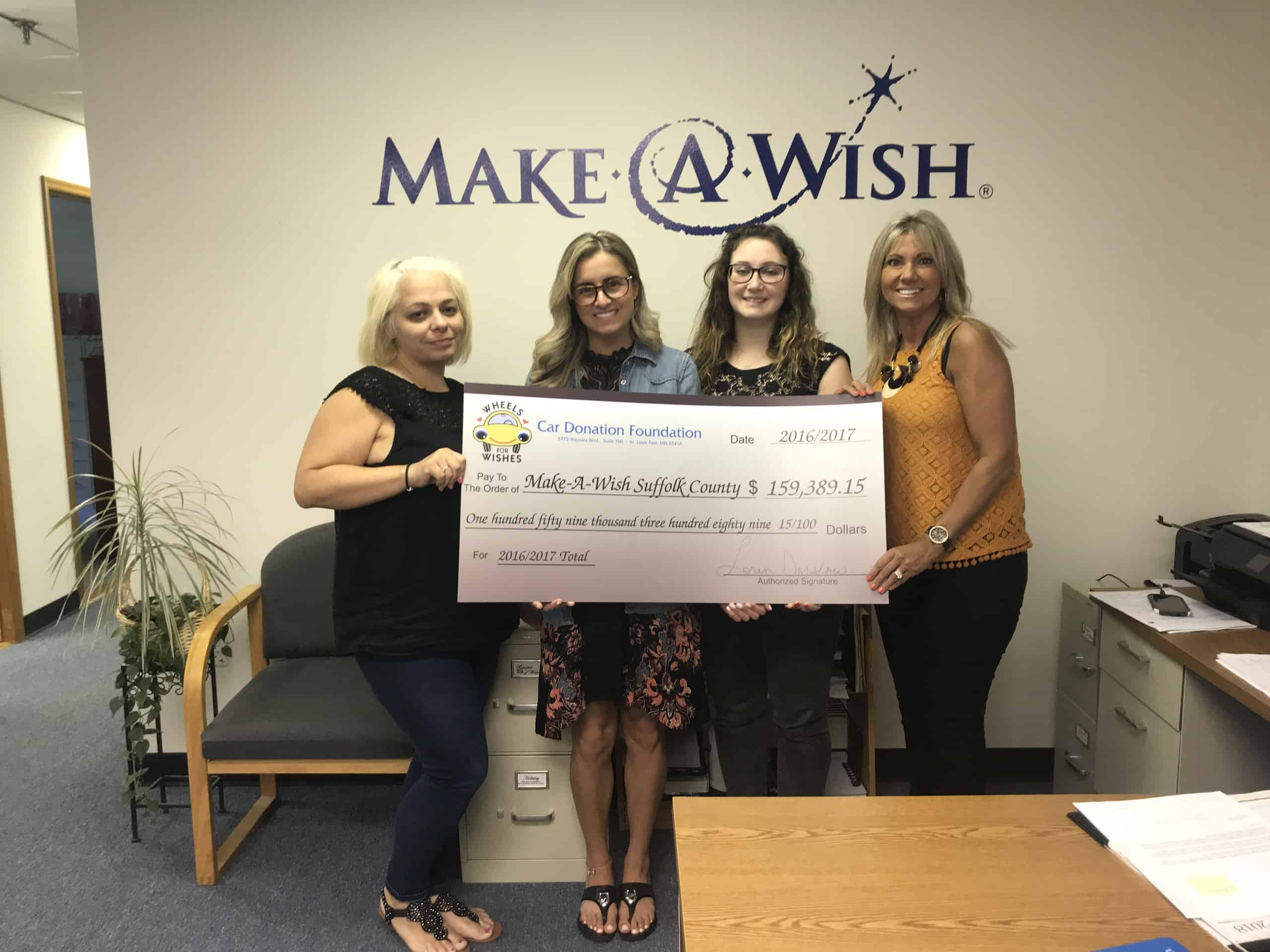 Wheels For Wishes Check To Make-A-Wish Suffolk County