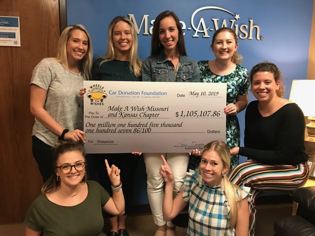 Wheels For Wishes Check To Make-A-Wish Missouri and Kansas