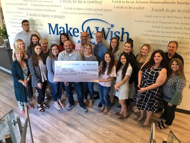 Wheels For Wishes Check To Make-A-Wish Arizona May 2019
